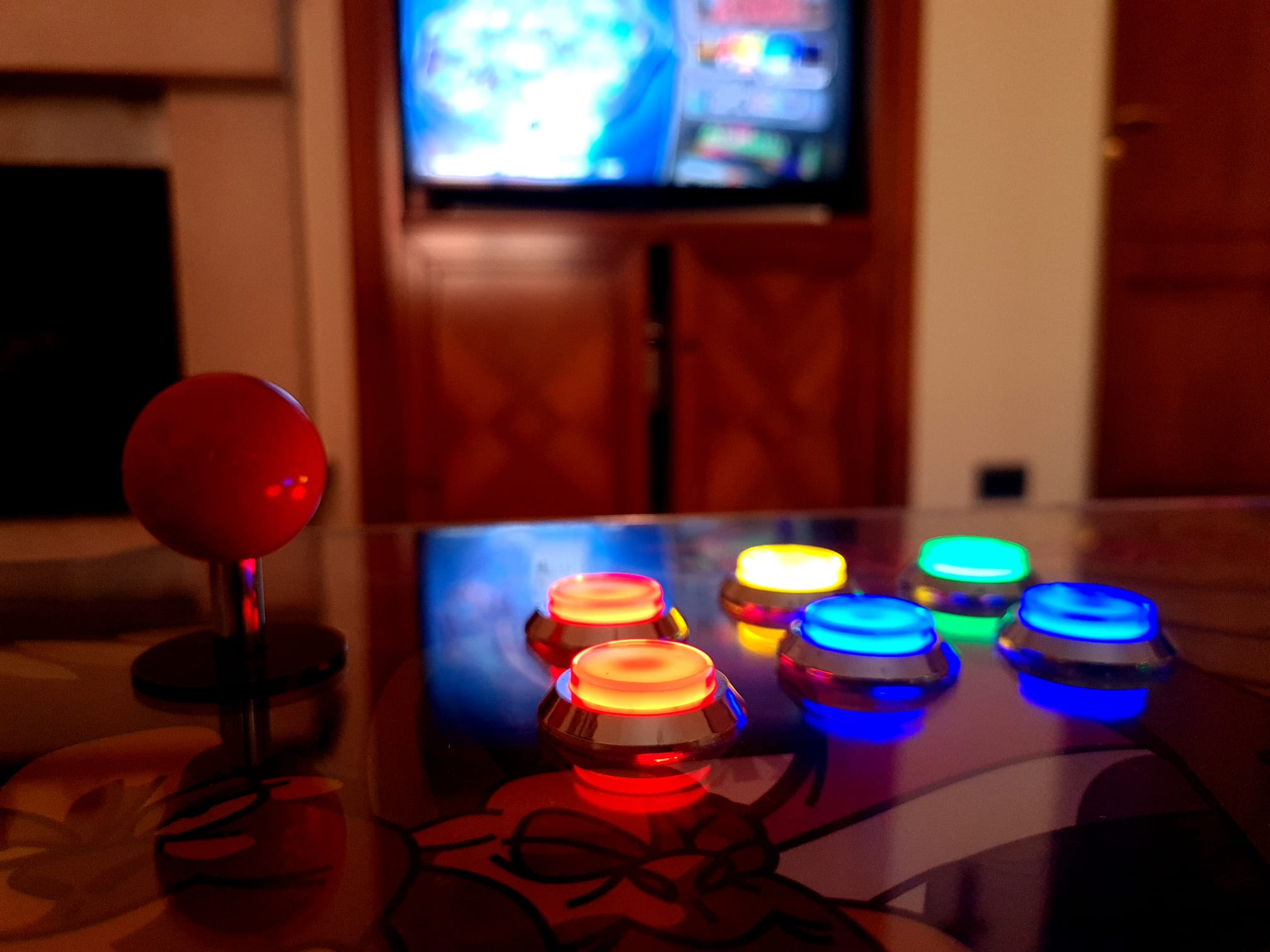 Plancia Arcade con trackball led. Hardware raspberry pi4