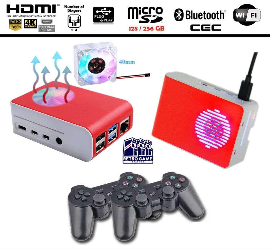 Raspberry Pi 4 - Retropie 256 gb Retrogamestation