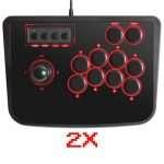 2 (DUE) joystic arcade USB per retroaming Preconfigurati